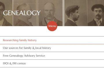 Image of National Archives website