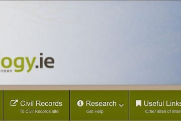 Irish geneology website image