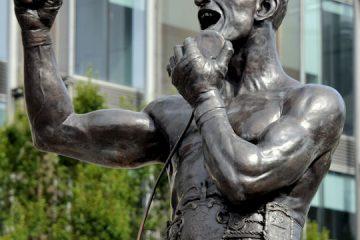 Rinty Monaghan statue, Art College grounds, York Street