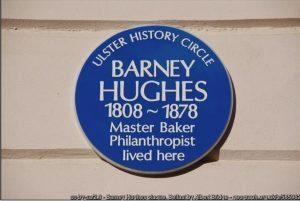 Barney Hughes Blue Plaque Belfast