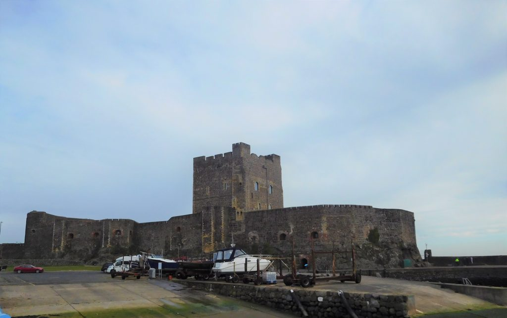 Carrickfergus Castle from marina