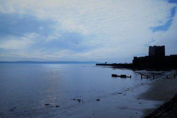 Carrickfergus Castle and sea