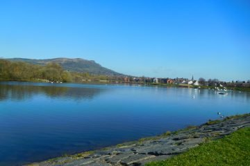 Belfast Waterworks - upper lake from central path