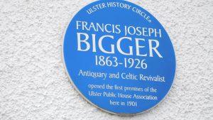Francis Joseph Bigger Blue Plaque