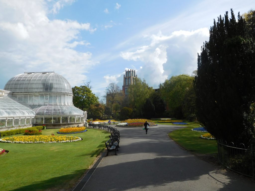 Botanic Gardens Belfast - the Palm House and Flowerbeds