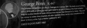 George Benn Sign, Belfast City Cemetery