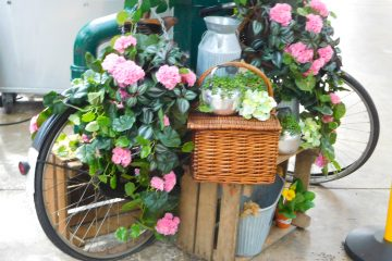 St George's Market bicycle & flowers