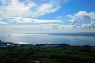 Circular cloud on Belfast Lough