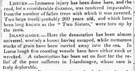 Belfast News Letter 11 Jan1839