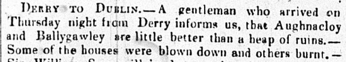 Belfast News Letter 15 Jan1839