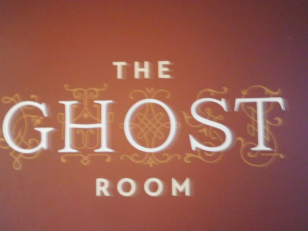 The Ghost Room sign