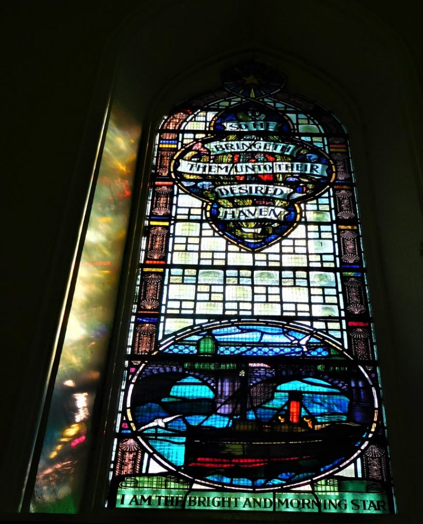 Maritime stained glass window