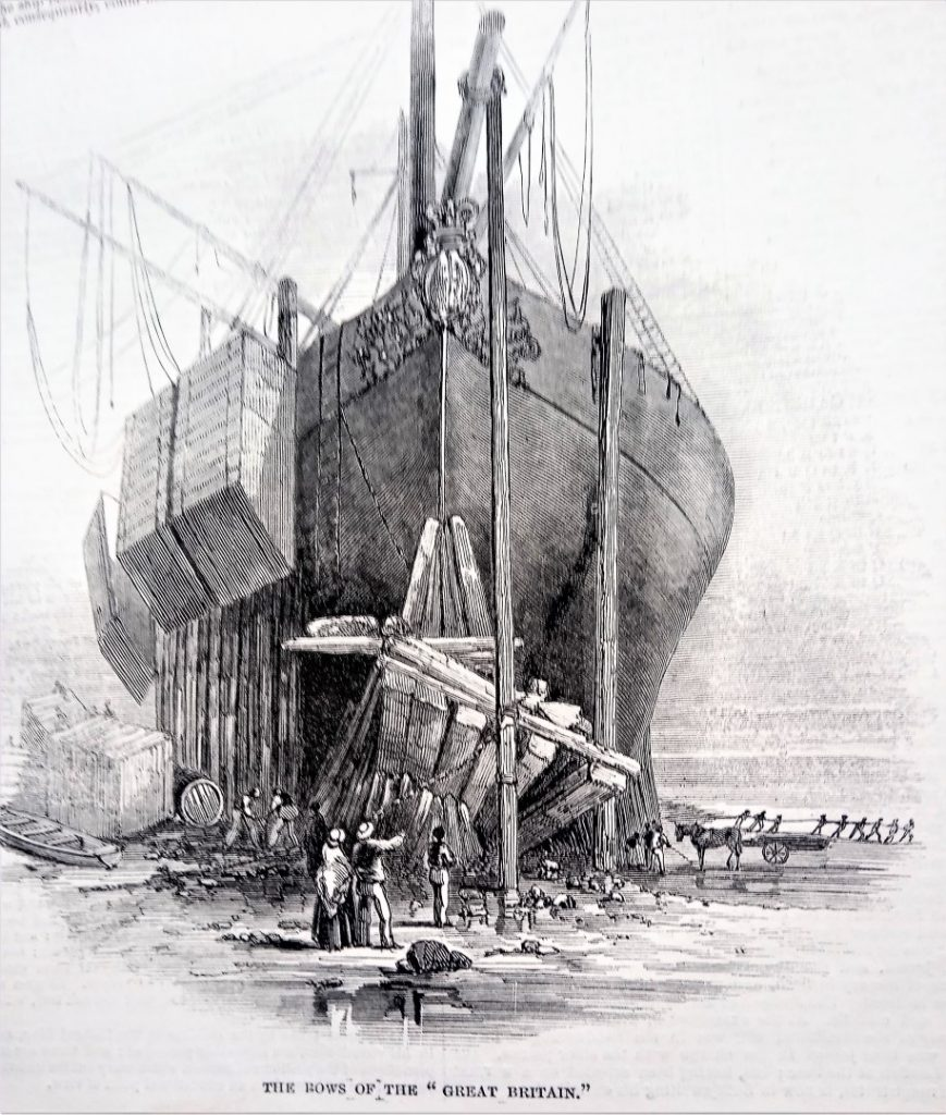 SS Great Britain stranded at Dundrum