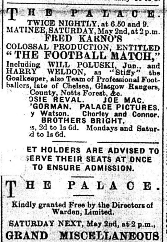 Charlie Chaplin - The Palace 27-4-1908