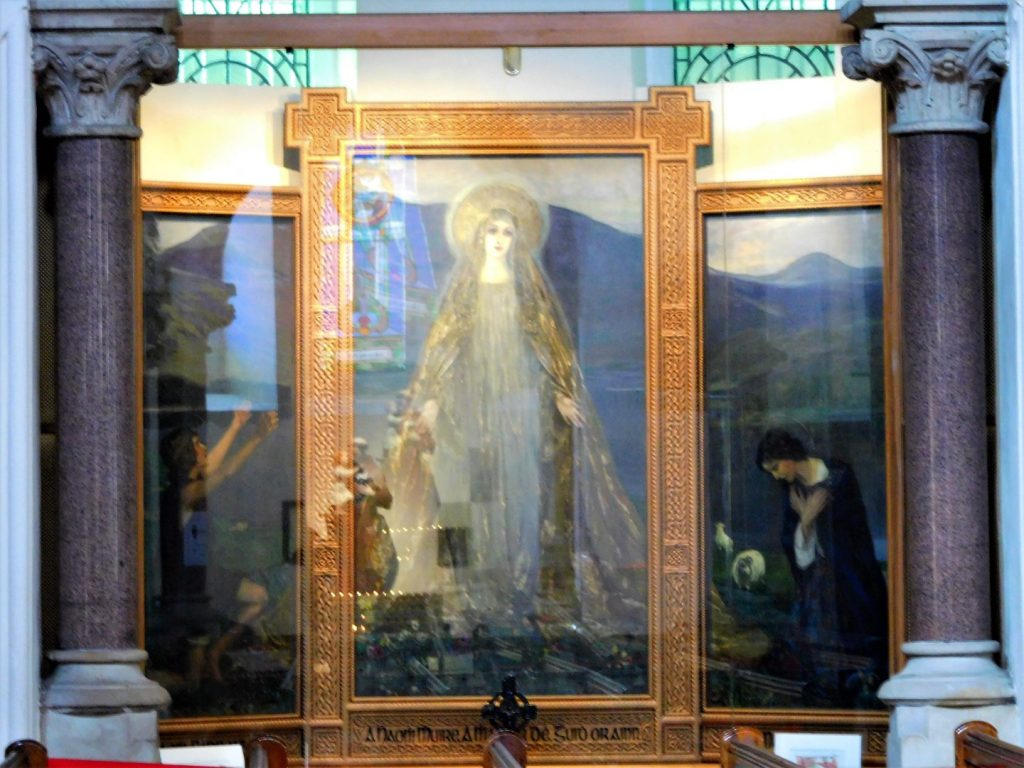 The Madonna of the Lakes on display
