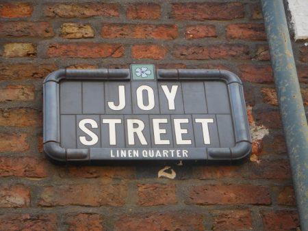 Joy Street sign