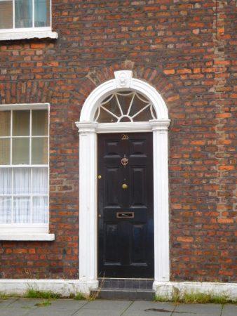 Decorative pilasters (pillars) at doors