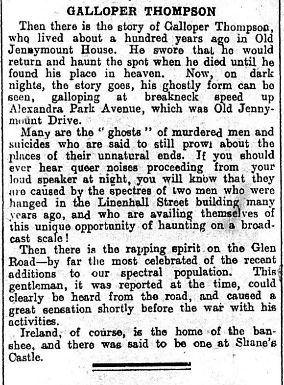 Galloper Thompson News Letter 19-01-1932