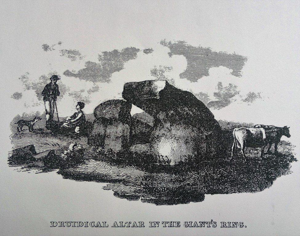 Giant's Ring Illustration - Benn, History of Belfast (1823)