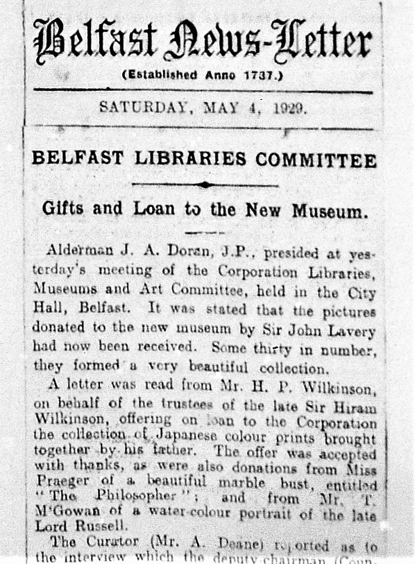 Newsletter Article 4/5/1929