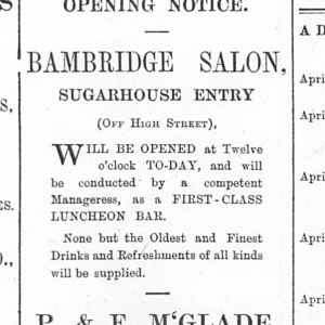 Sugarhouse Entry - Irish News 09 04 1895