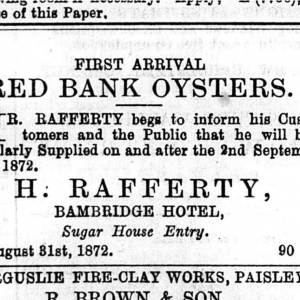 Sugarhouse Entry - Belfast Telegraph 04 09 1872