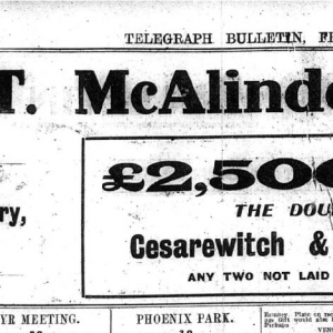 Sugarhouse Entry - Belfast Telegraph 12 08 1921