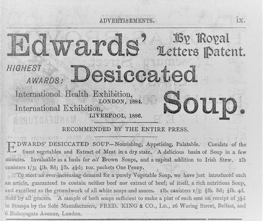 Belfast Street Directory Advert 1887