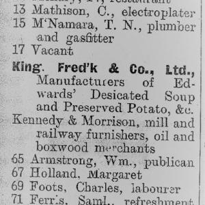 Belfast Street Directory 1898