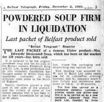 Belfast Telegraph Dec 2nd 1960
