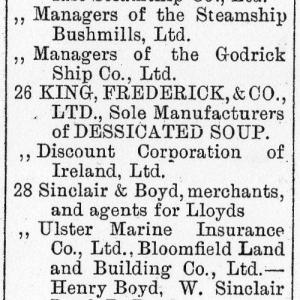 Belfast Street Directory 1892