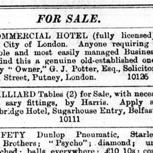 Sugarhouse Entry - Irish News 03 07 1893