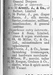 Arnotts Appear on High Street in Belfast Street Directory 1900