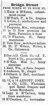 Arnott's Bridge Street - Street Directory 1894
