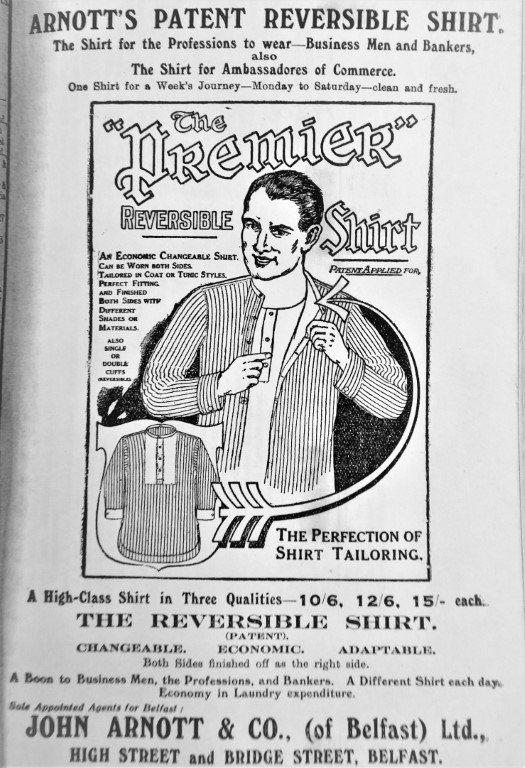 Arnott's Patent Reversible Shirt 1920