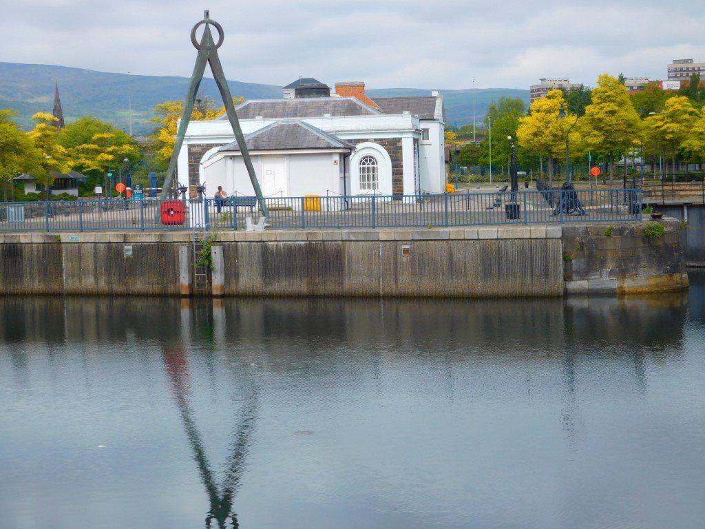 Dividers sculpture at Clarendon Docks