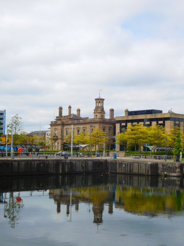 Clarendon Dock view of Custom House and