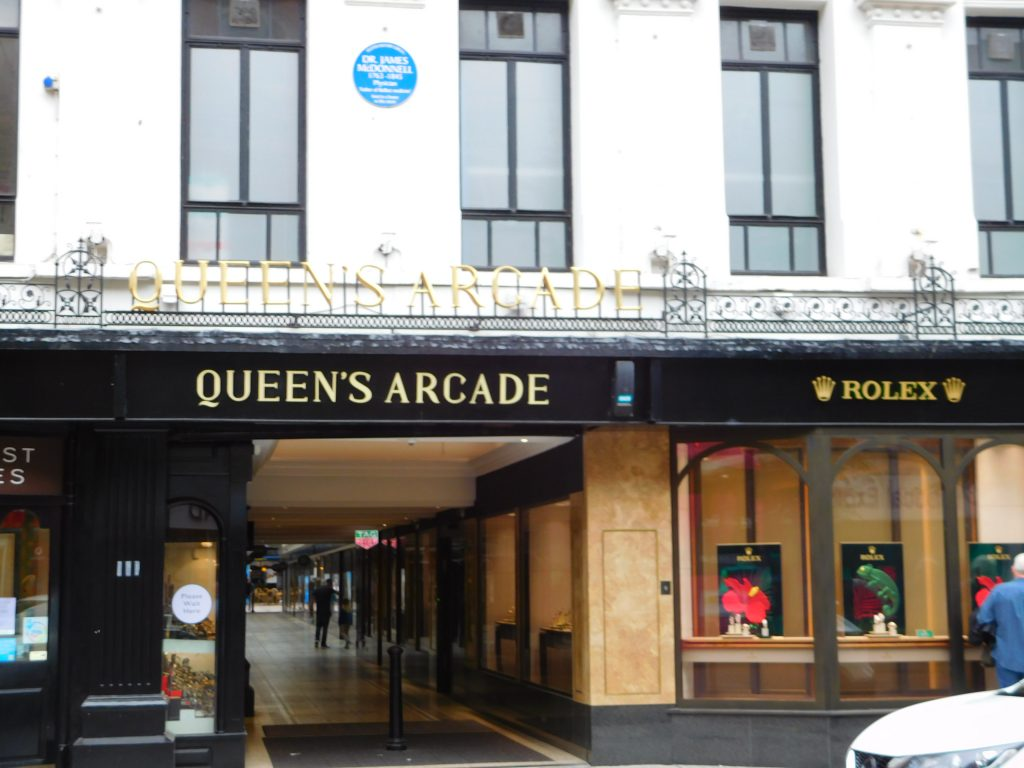 James McDonnell Plaque on Queens Arcade