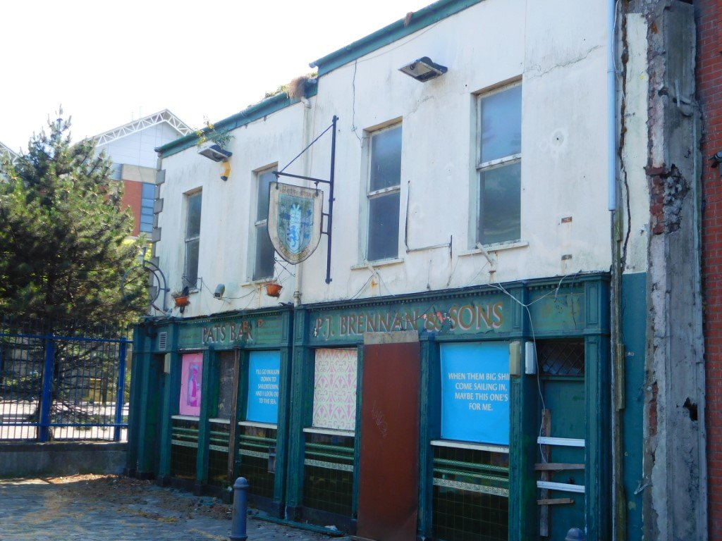 Pat's Bar - once popular now derelict