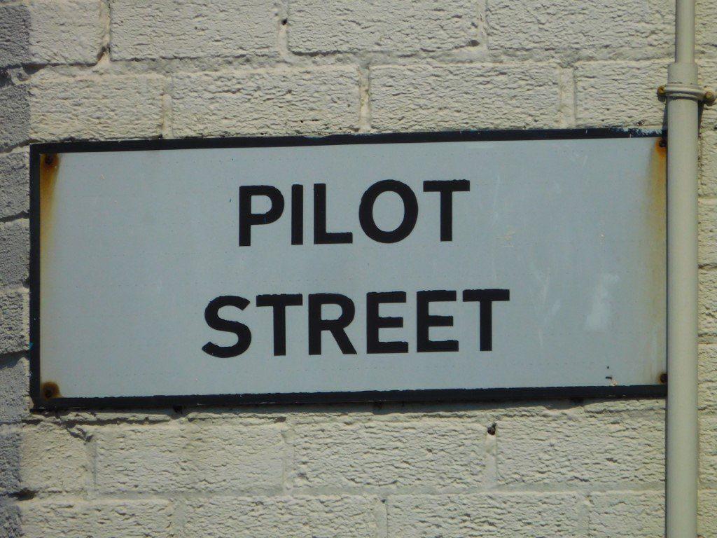 Pilot Street Sign