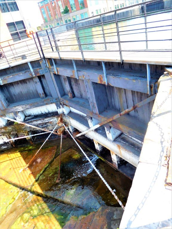 Dry Dock Gate withholding the water