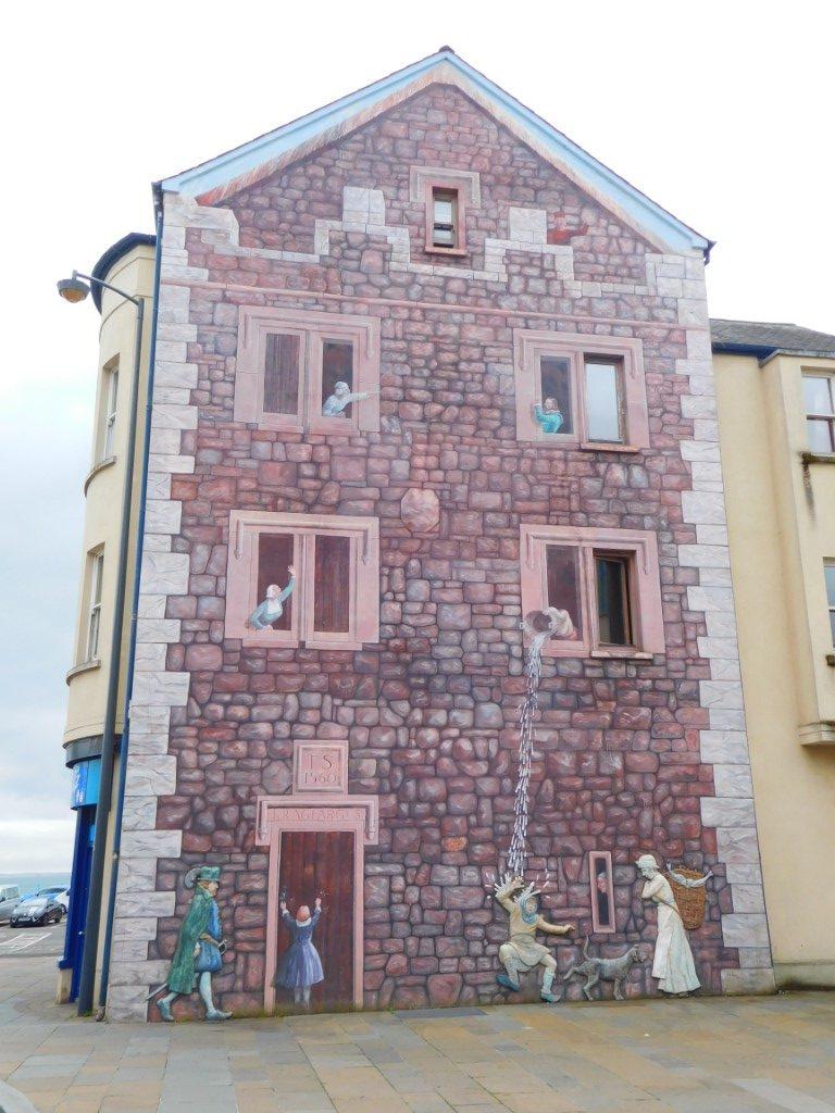 Carrickfergus scene beside the stockades