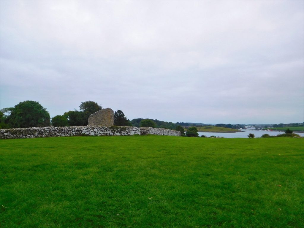 Nendrum Round Tower with Strangford Lough
