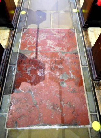 Grave Slab in floor