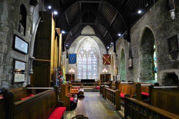 Interior aisle & altar view