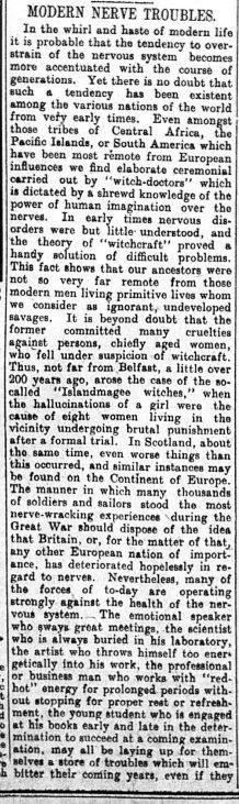 Islandmagee Witches Belfast Telegraph 18 Aug 1924
