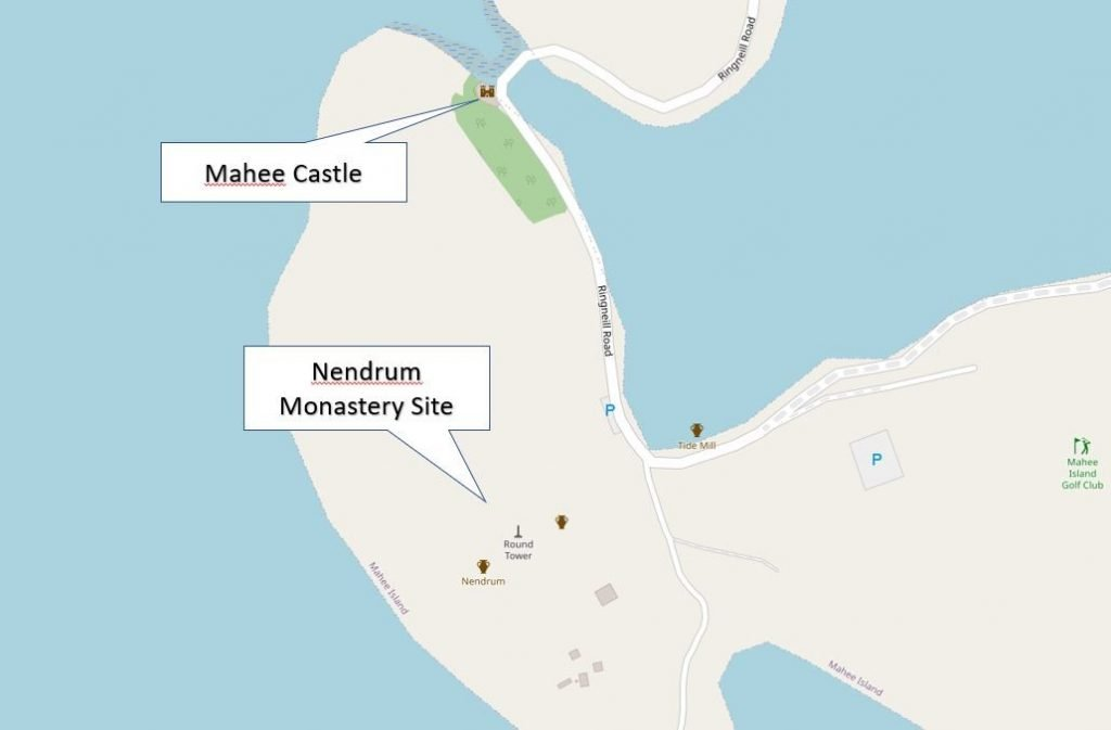 Mahee Castle and Nendrum Locations