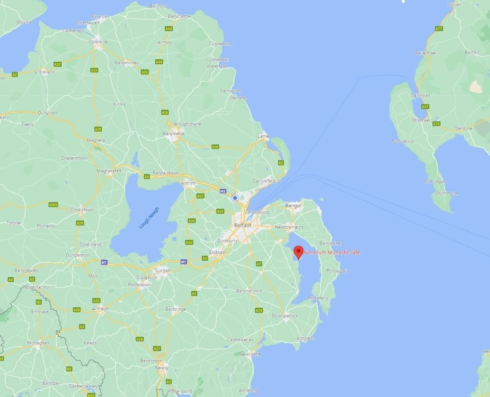 Location of Nendrum on the map