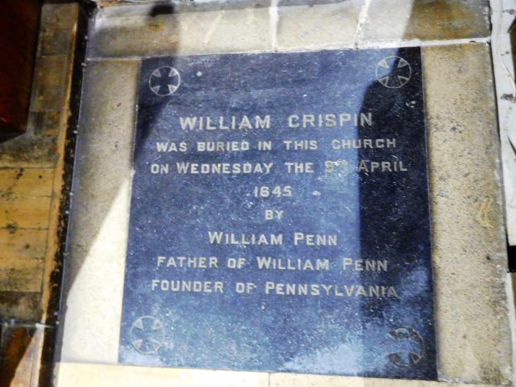 William Crispin Grave - A link to Pennsylvania