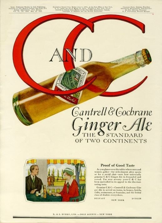 Cantrell & Cochrane Ginger Ale 1922 Poster